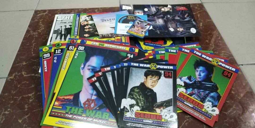 (WTS FAST) EXO THE WAR 'THE POWER OF MUSIC' ALBUM 2017 | READY STOCK | FULL SET