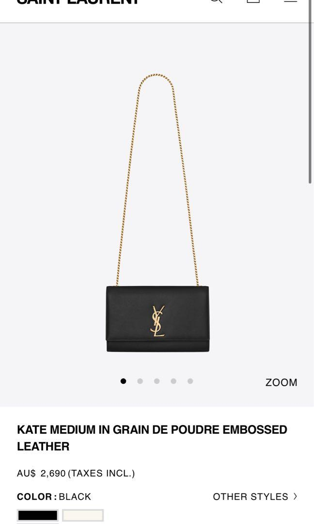 YSL Kate Medium Calfskin Leather with Gold Hardware
