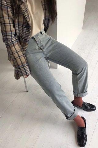 全新轉賣 feminine gel LINENNE同款刷白牛仔褲