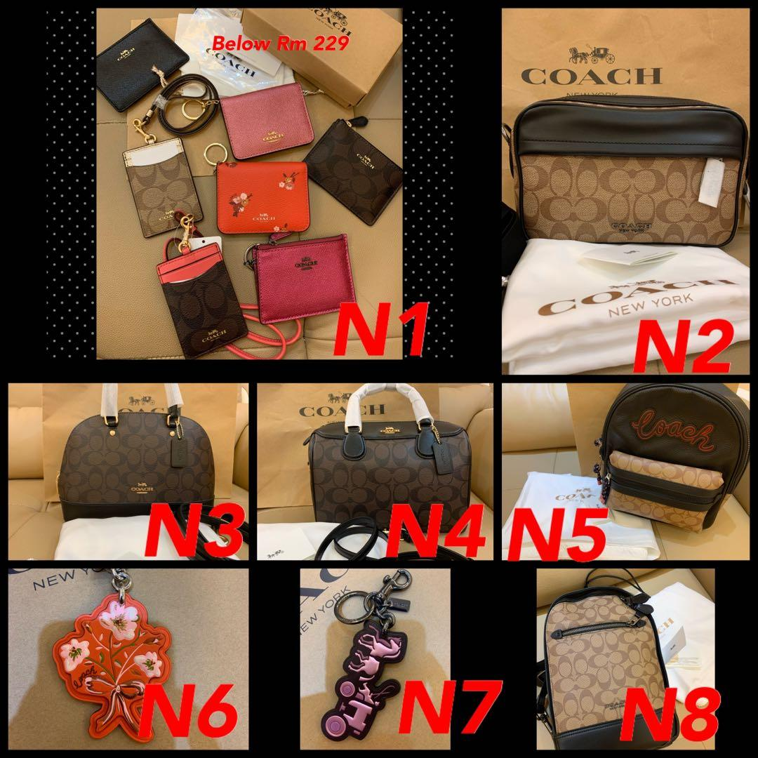 (15/12/19)Ready Stock Authentic coach women backpack traveller bag Tory Burch wallet purse woc Marc Jacobs sling bag backpack belt bag ready stock