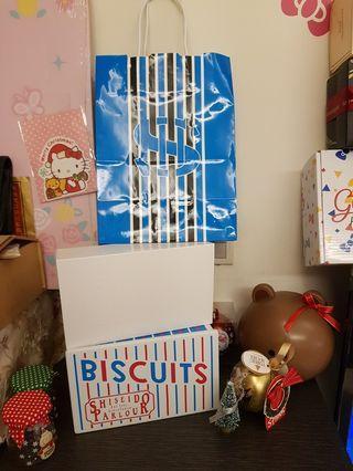 資生堂餅乾空鐵盒組