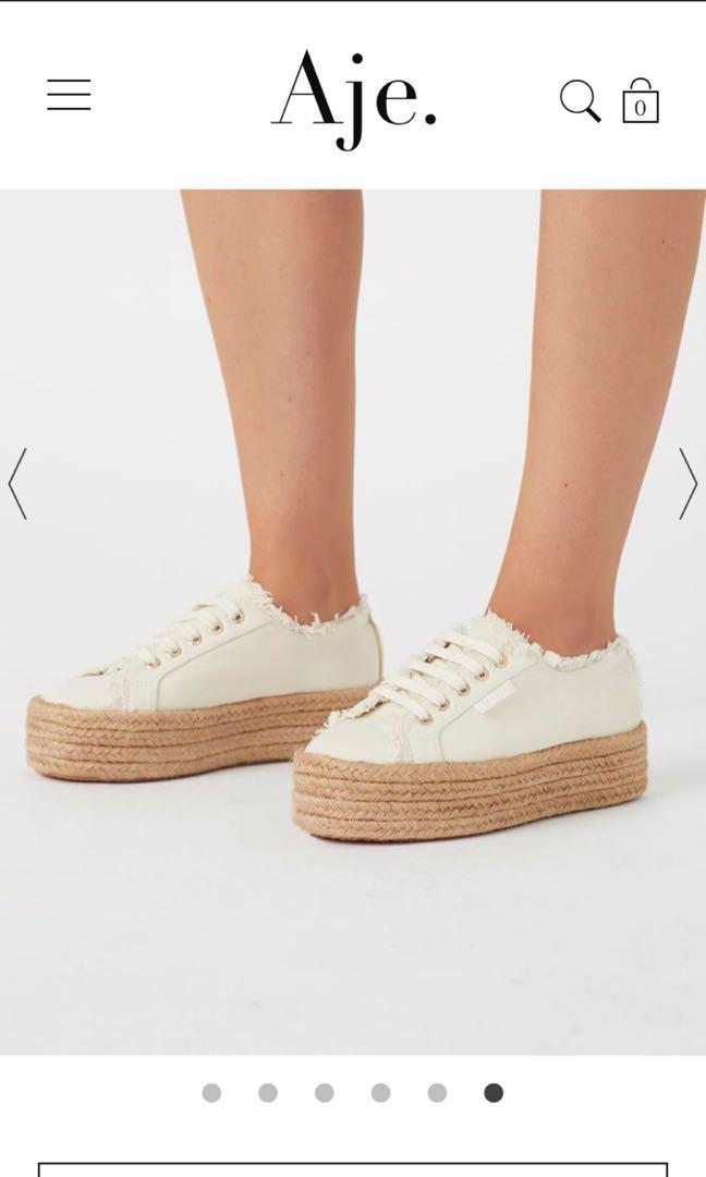 Aje x Superga Natural Platform Sneakers - LIMITED EDITION COLLAB