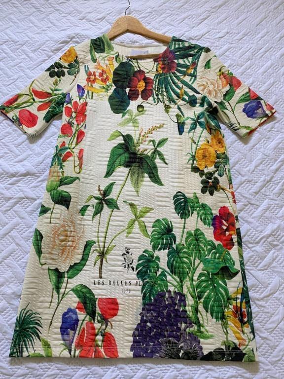 Asos (Tall) Floral Short Sleeve Shift Dress (size 10)
