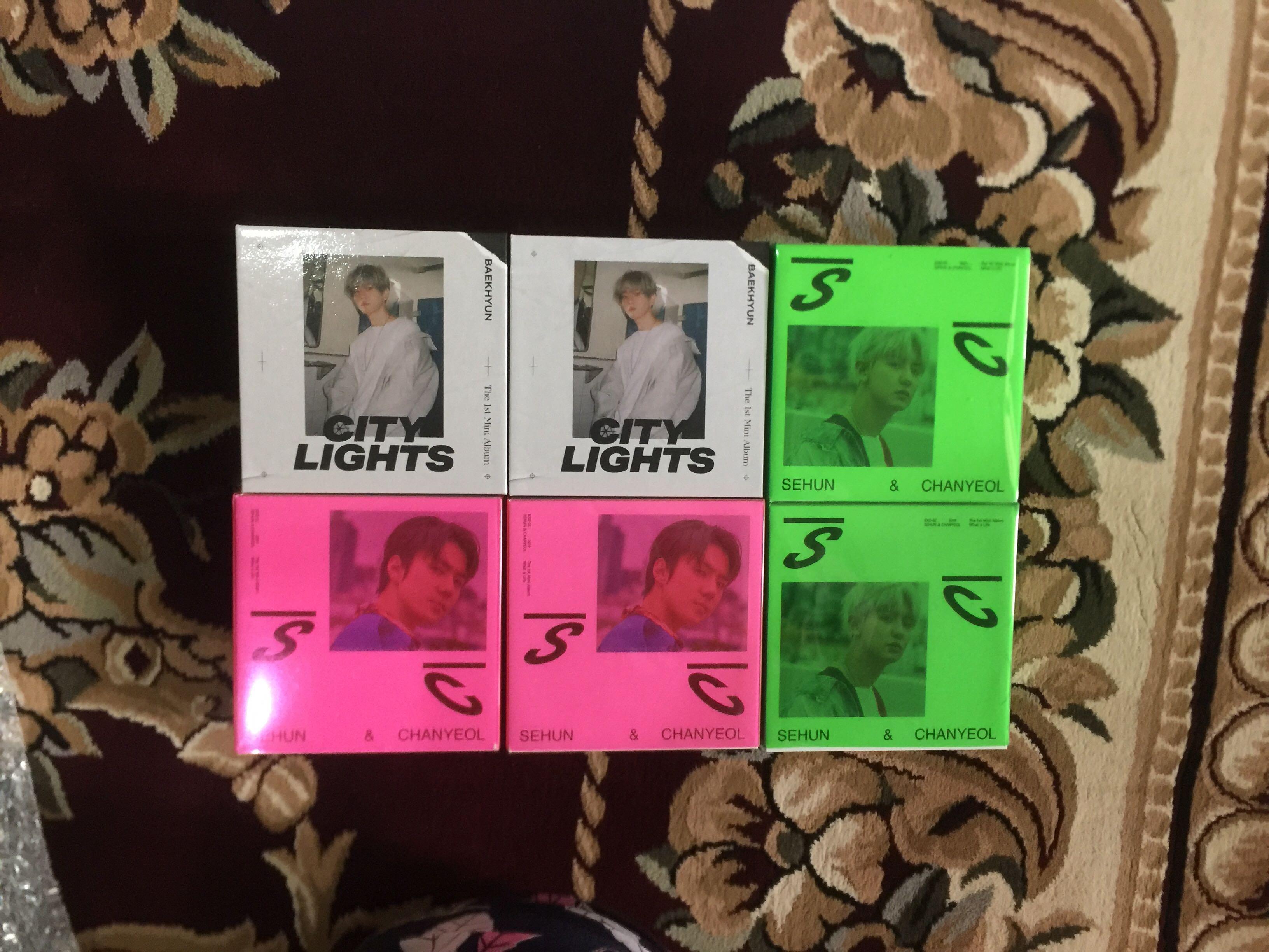 Baekhyun - City Lights kihno album , EXO SC - What A Life Kihno album