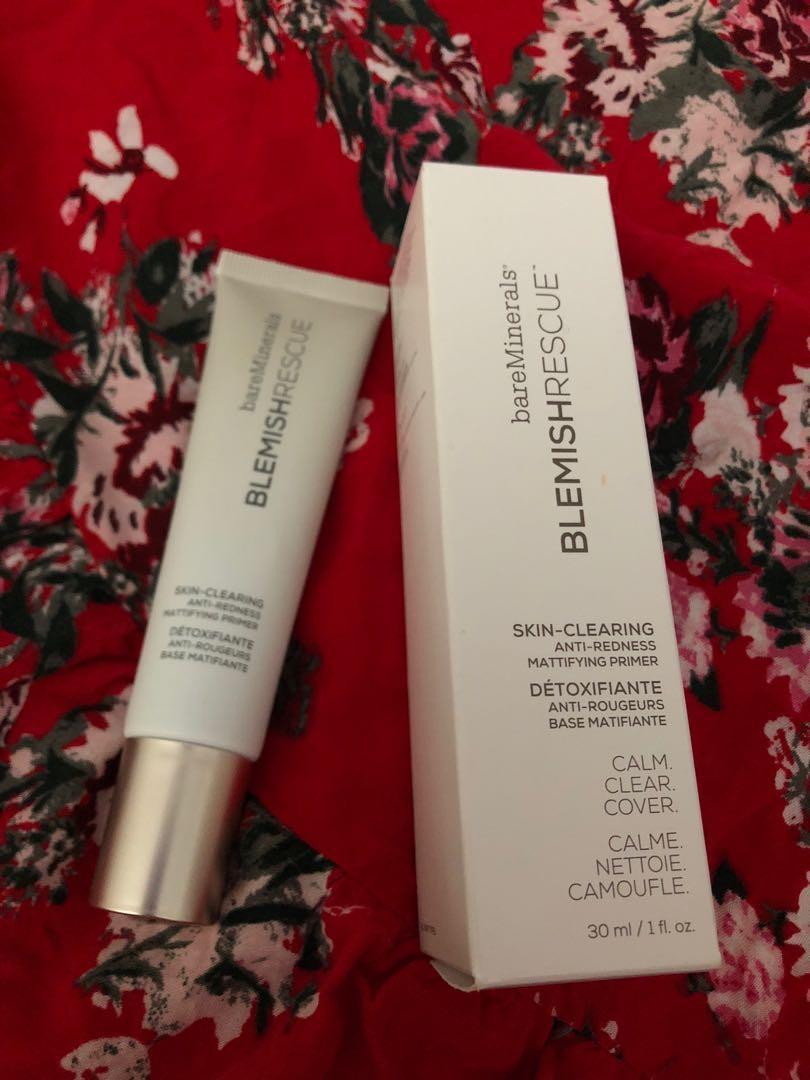 Bareminerals Blemish rescue skin clearing Anti Redness Mattifying primer