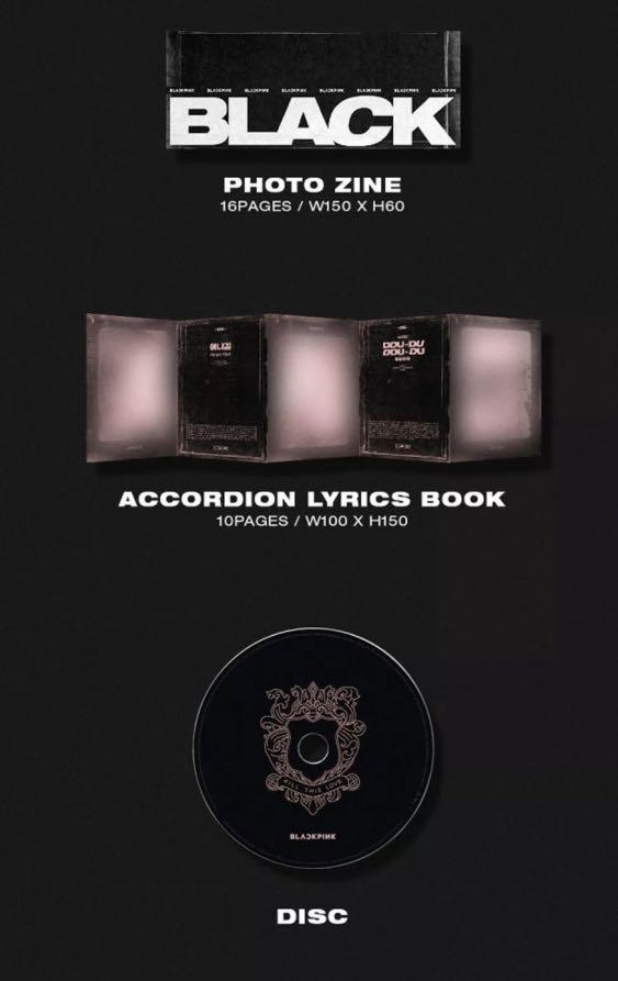BLACKPINK (KILL THIS LOVE) BLACK VERSION-KPOP SEALED CD ALBUM WITH FULL CONTENTS