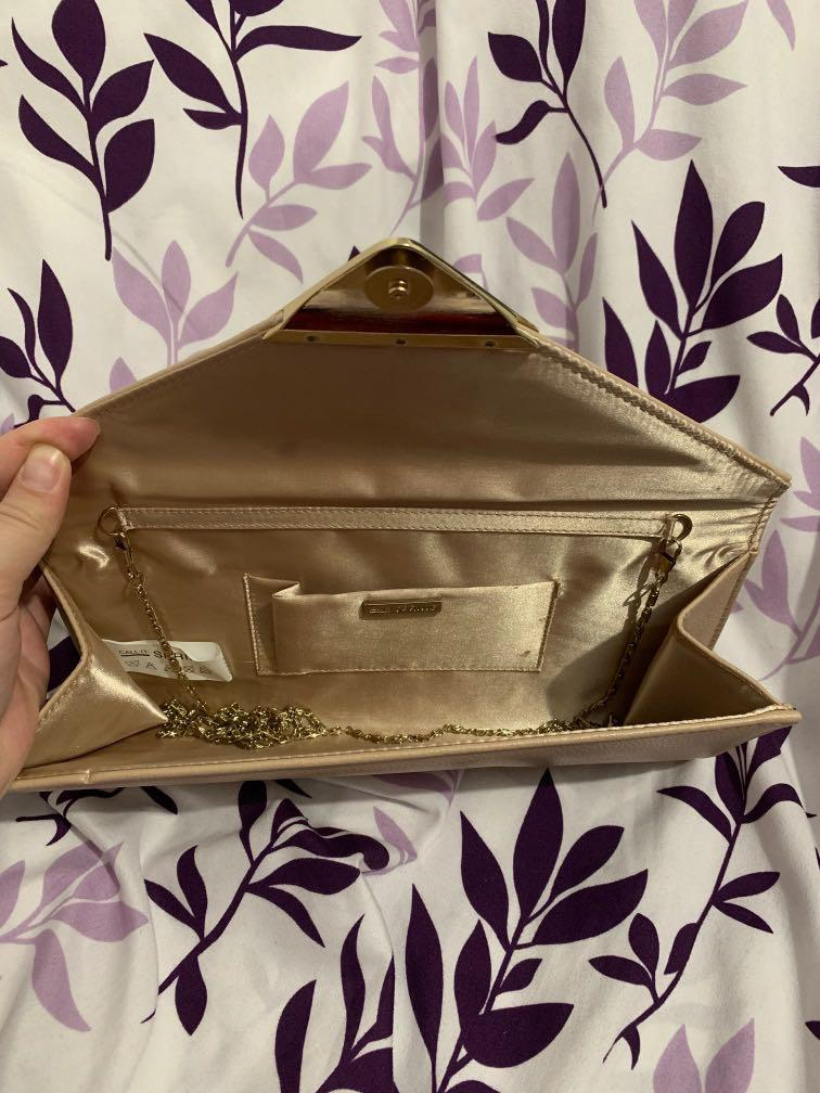 Call It Spring Kowalik Nude Clutch w/ Removable Chain