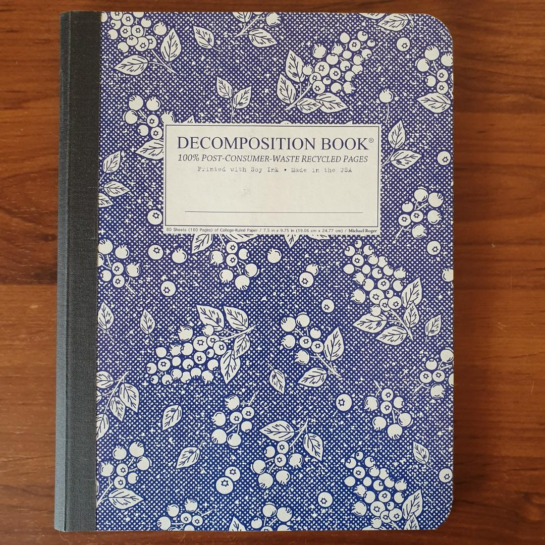 Decomposition Book 100% Recycled Eco Friendly Notebook