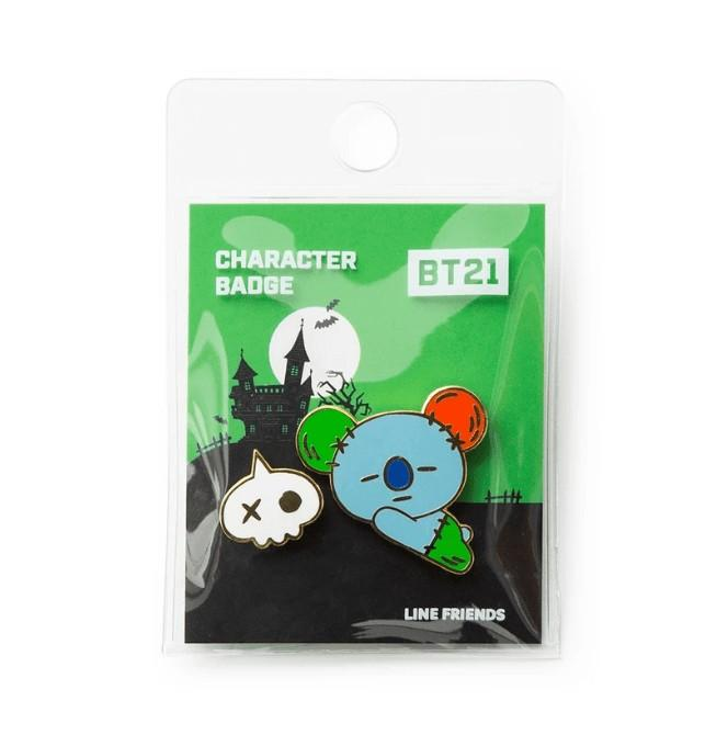 (PO/GO) Official BTS BT21 Metal Badge (Halloween Ver.)