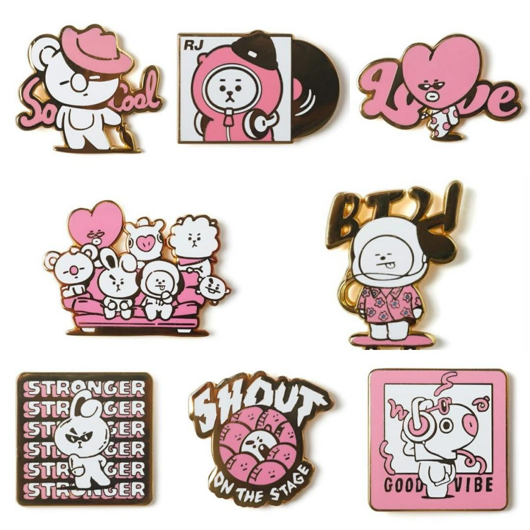 (PO/GO) Official BTS BT21 Metal Badge (Music Ver.)