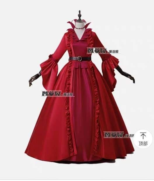 🌹IDENTITY V GAME RED DRESS COSPLAY COSTUME WOMEN FASHION🌹