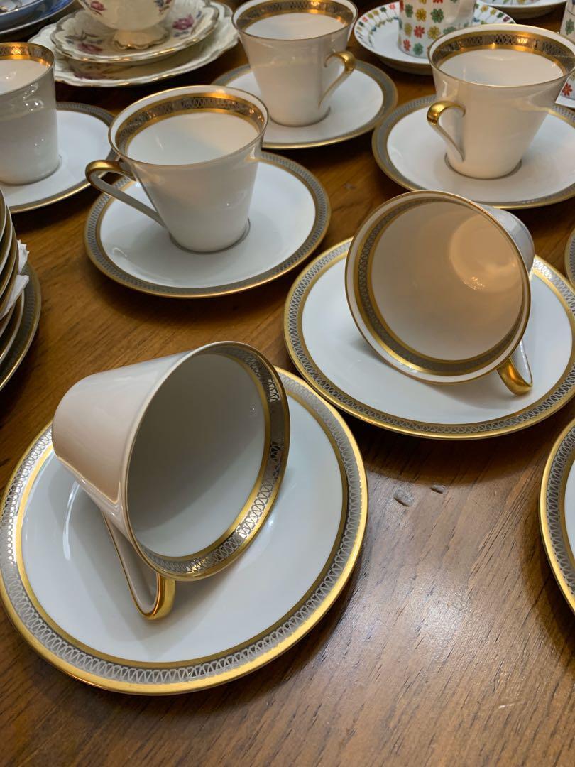 Johann Seltmann German Gold Trimmed Coffee and Serving Set