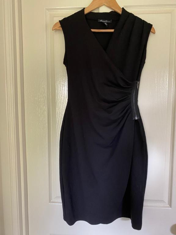 Kenneth Cole Women's Sleeveless Wrapped Dress with Exposed Zipper (size XS)
