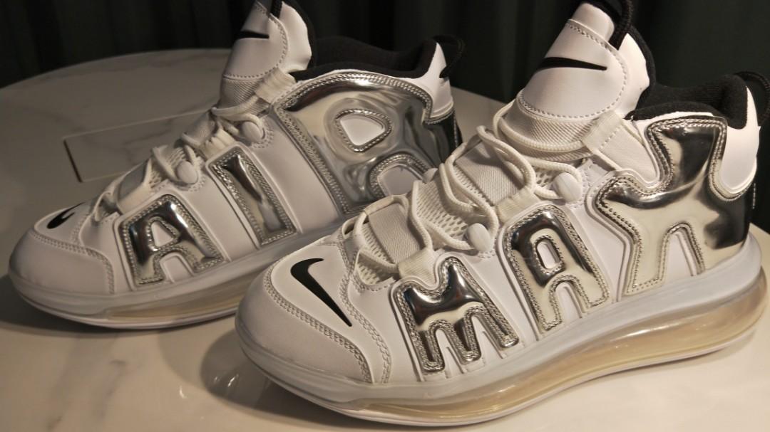 Nike Air More Uptempo 720 Max White Metallic Silver