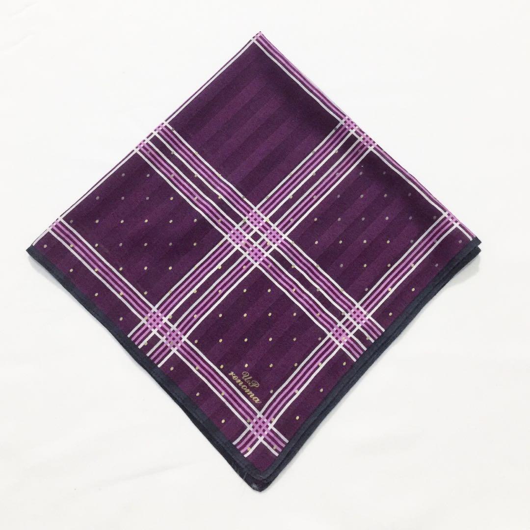 Rare Vintage U.P. Renoma Paris Handkerchief / hanky bandana scarf sapu tangan