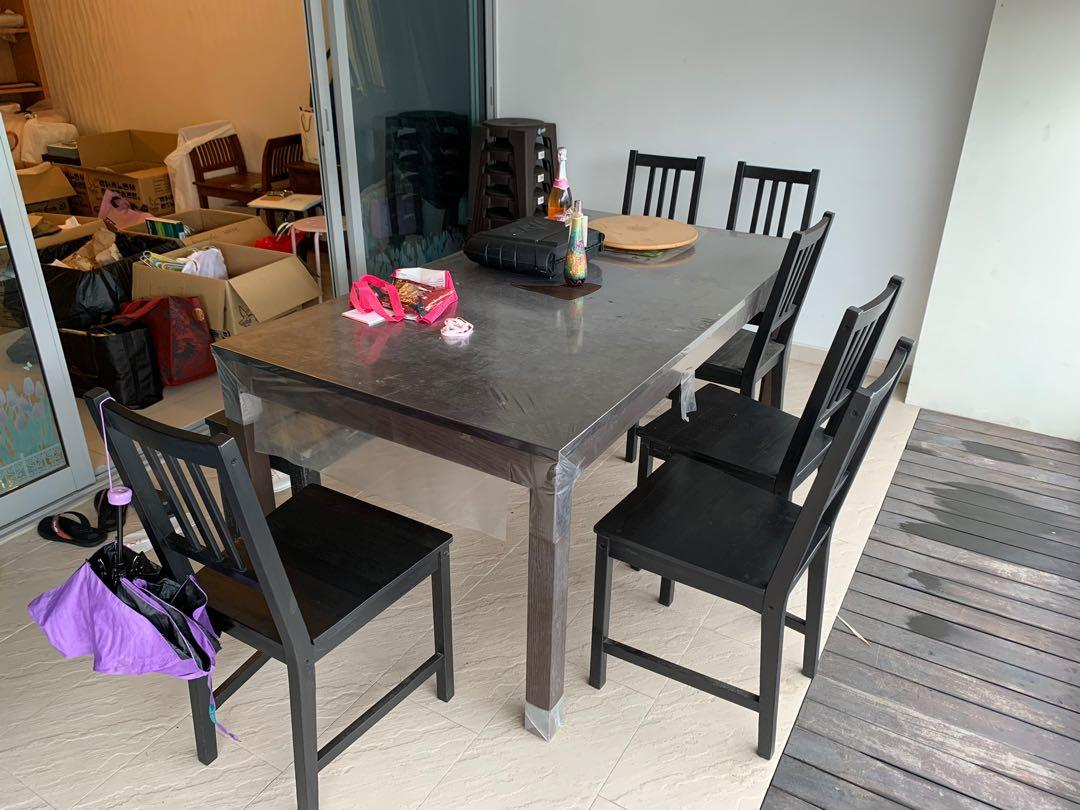 Used Ikea Laneberg Dining Table Set Furniture Tables Chairs On Carousell