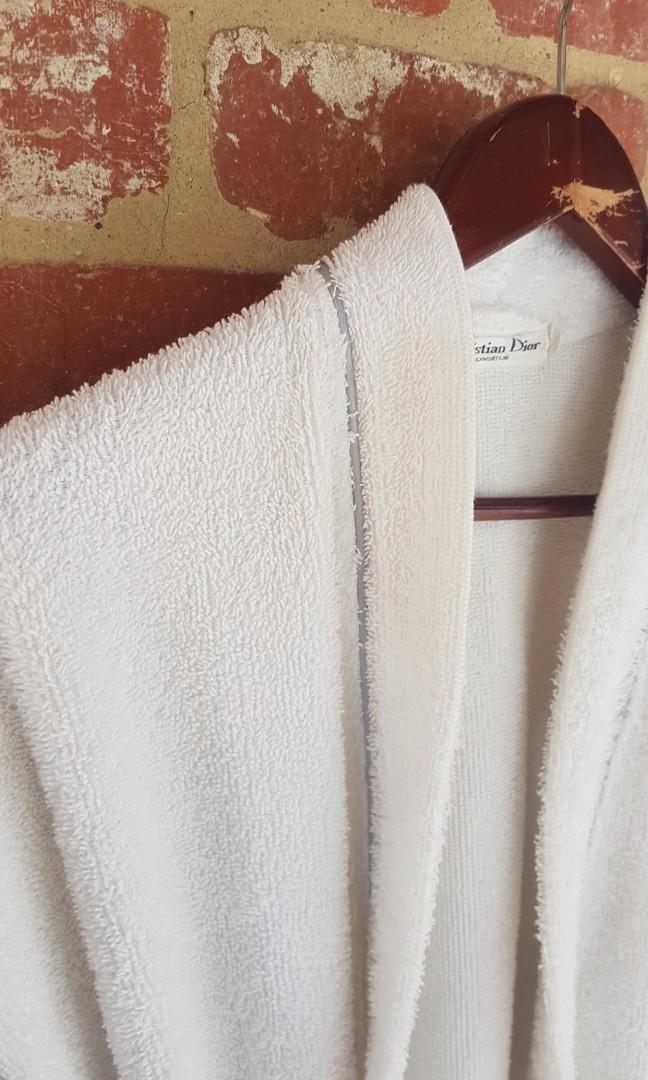 Vintage CHRISTIAN DIOR Monsieur Dressing Gown Bath Robe