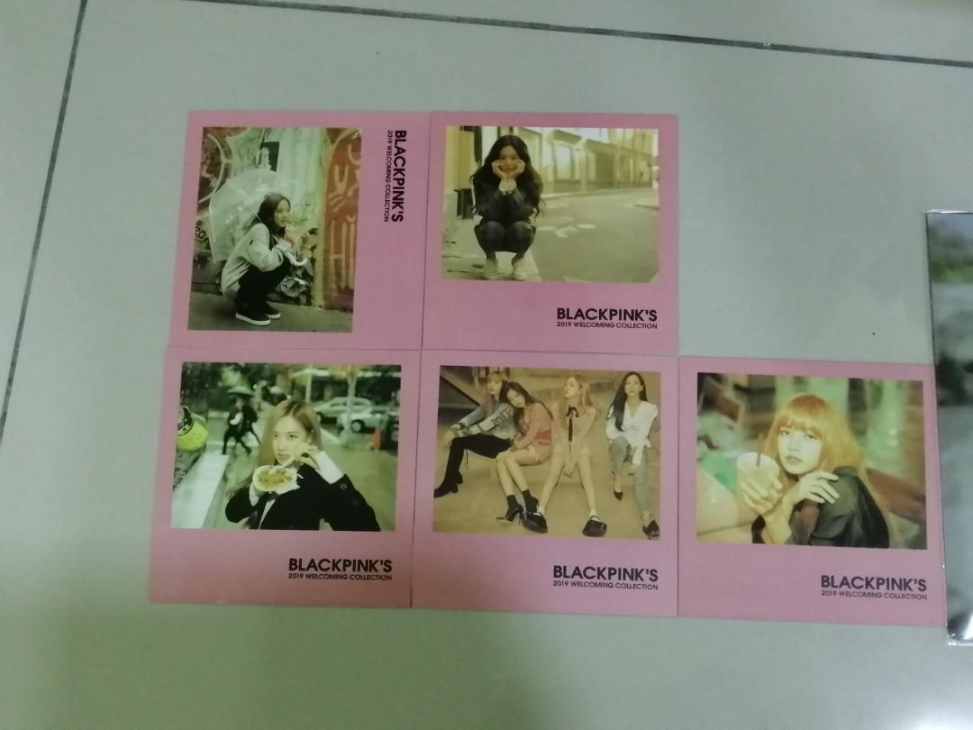 WTS BLACKPINK UNOFFICIAL WELCOMING COLLECTION PHOTOCARD