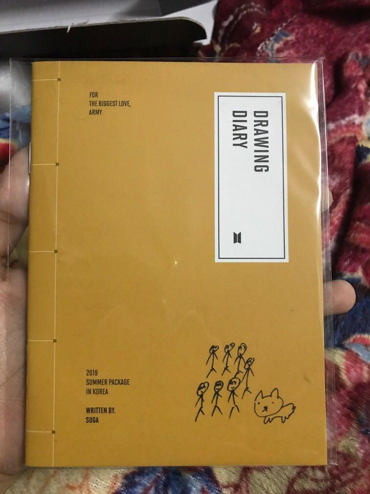 [WTT] BTS 2019 Summer Package in Korea Suga Drawing Book