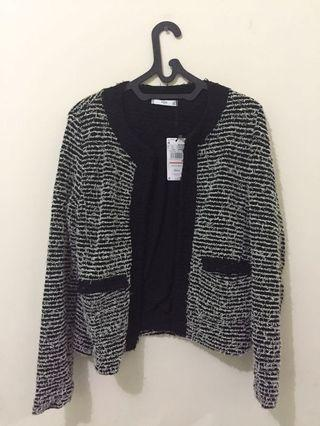Mango Tweed Jacket / Cardingan