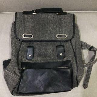 Grey & Black Backpack