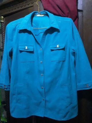 Outwear biru tosca
