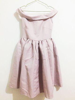 Pazzo藕紫色婚禮喜宴二手洋裝