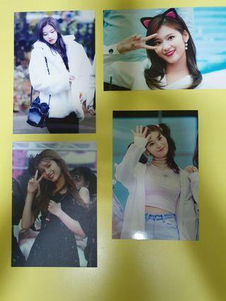 Twice Sana fansite photocards