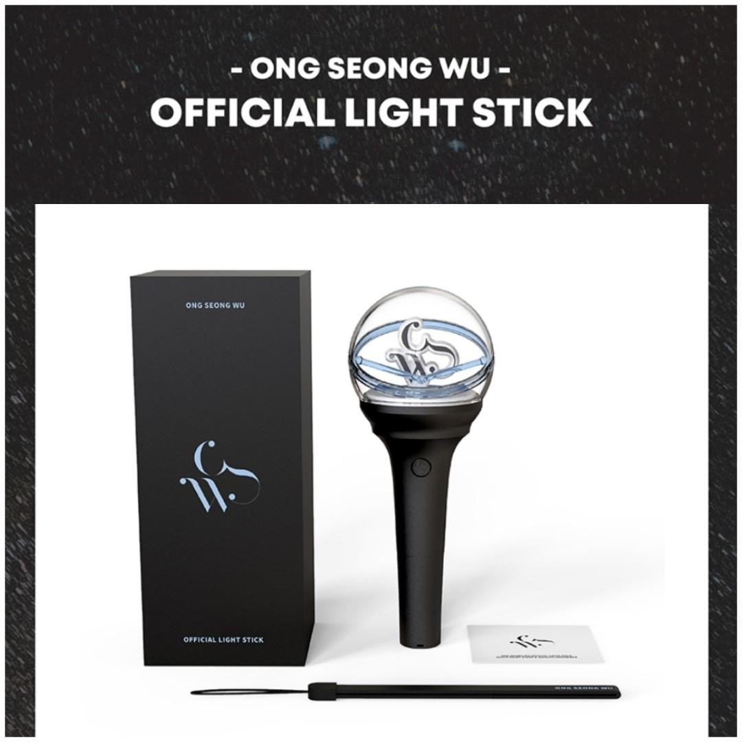 (HANDCARRY/NO EMS) ONG SEONG WU LIGHTSTICK AND POUCH