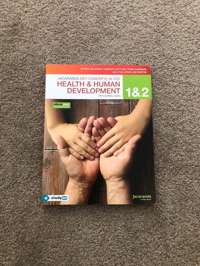 health and human development units 1 & 2 textbook (newest edition -fifth)