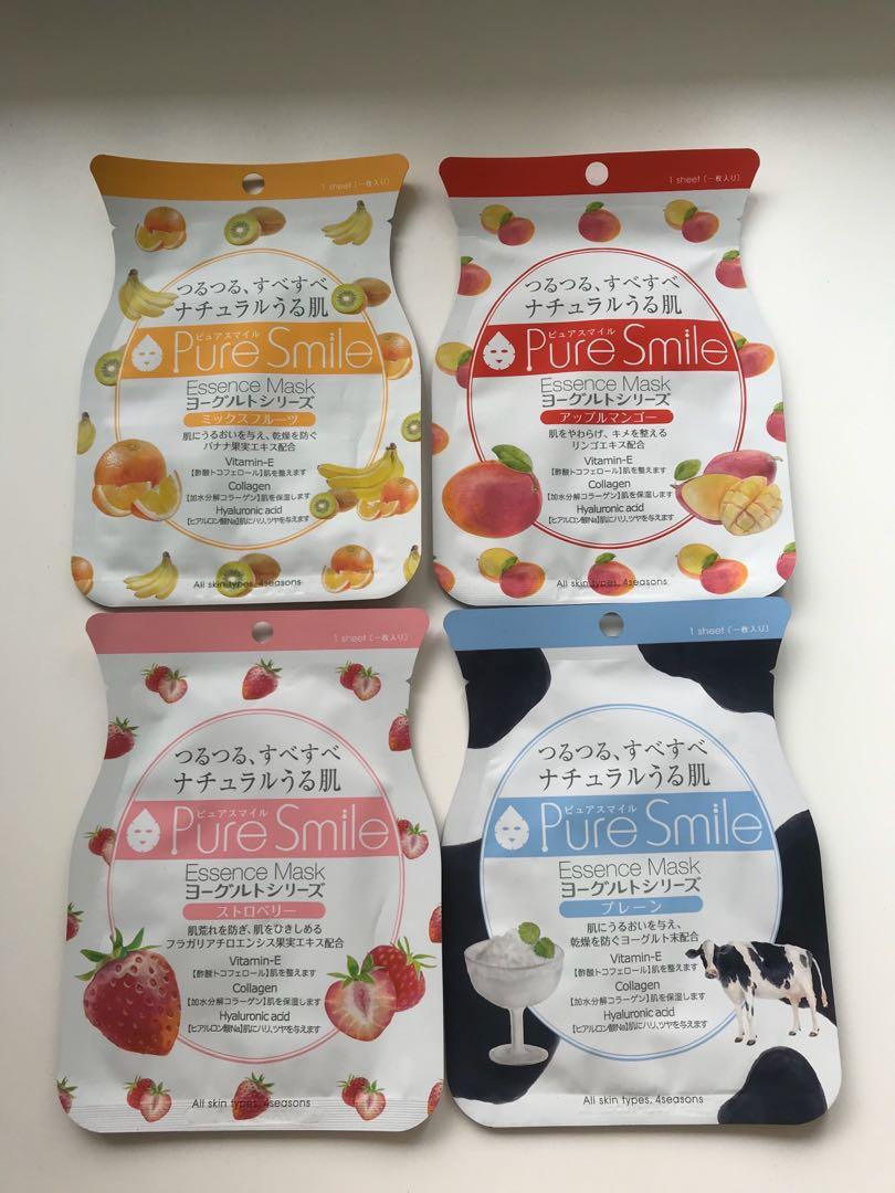 SUN SMILE: PURE SMILE YOGHURT ESSENCE MASK (4 pack)