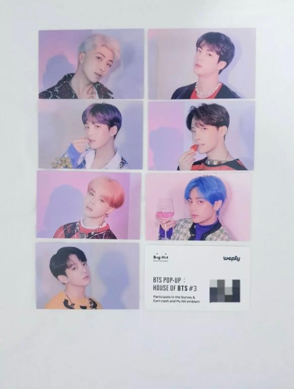 Limited Bingo Event Photo Card(7 member) + QR card(New) - House of BTS POP-UP