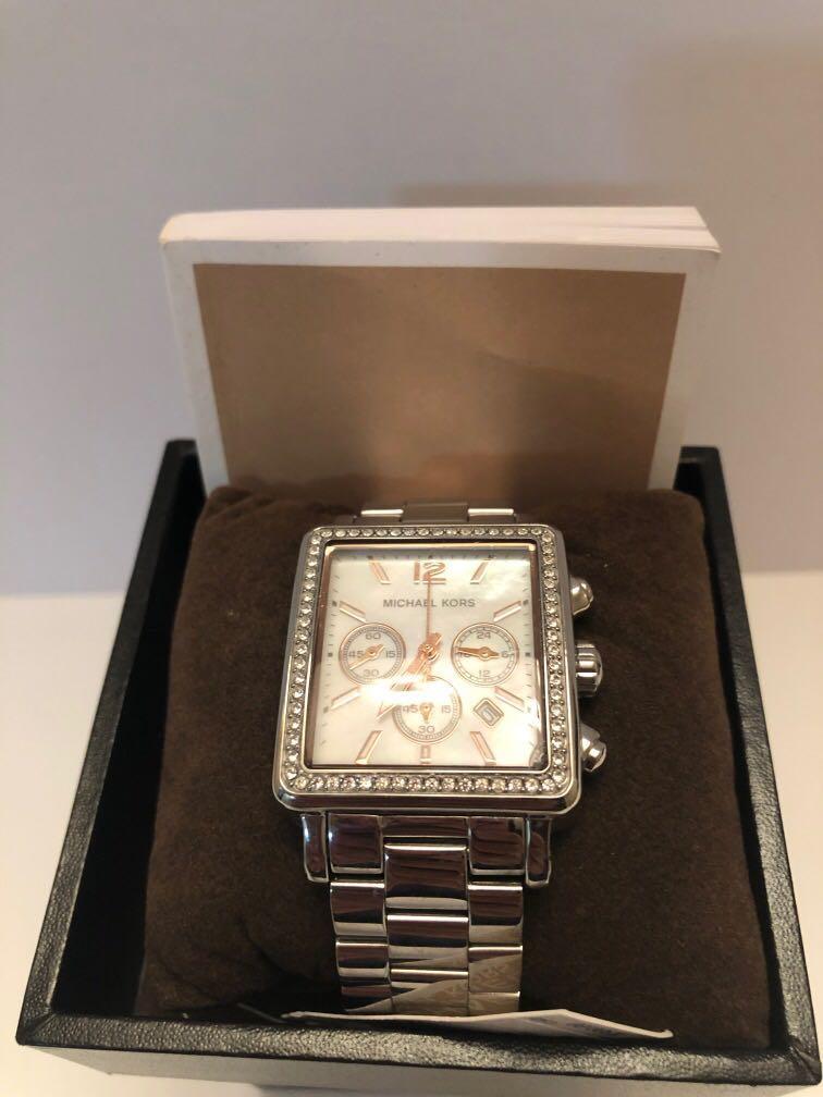 Michael Kors mother of Pearl & Swarovski Crystal watch