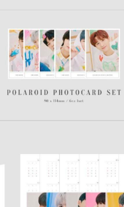 MONSTA X POLAROID PHOTOCARD SET FROM SEASON GREETINGS 2020