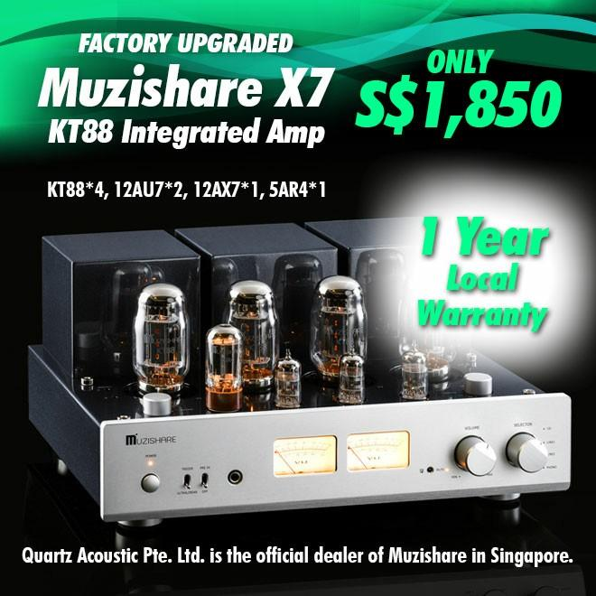 Muzishare X7 (Factory Upgraded) KT88 Integrated Tube Amp OFFICIAL DEALER