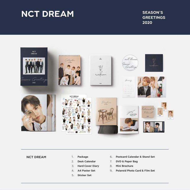 NCT Dream 2020 Seasons Greeting loose items