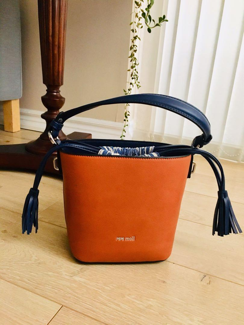 New vegan leather bucket bag with straps cross body