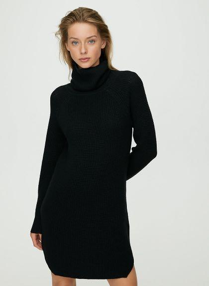 NWOT Aritzia Wilfred Bianca Wool Dress Size S Black