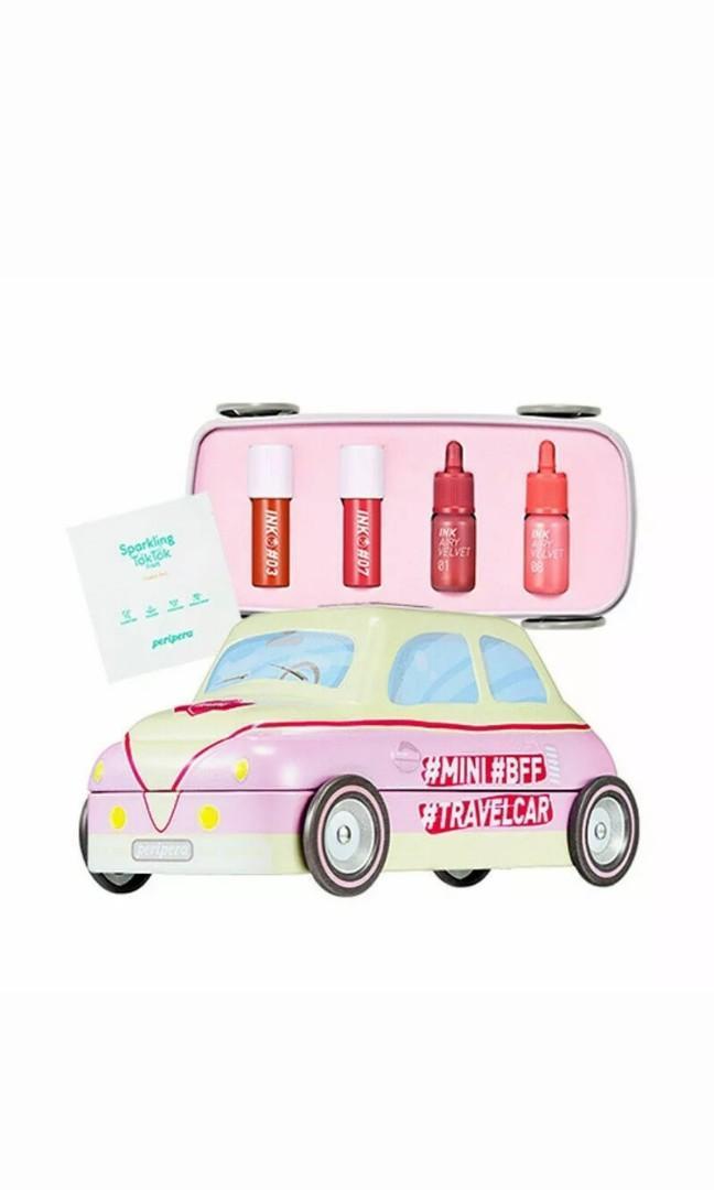 Peripera mini travel car ink blurr matte and velvet lip tint set