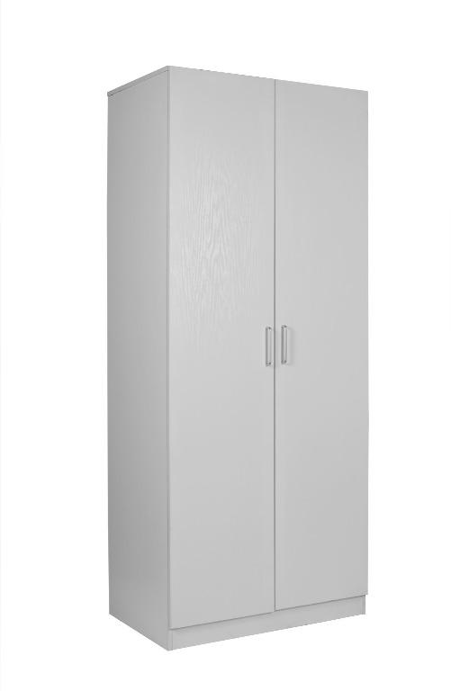 REDFERN BIG SIZE COMBO WARDROBE WITH 2 DOOR 4 SHELVES - (BLACK / WHITE)