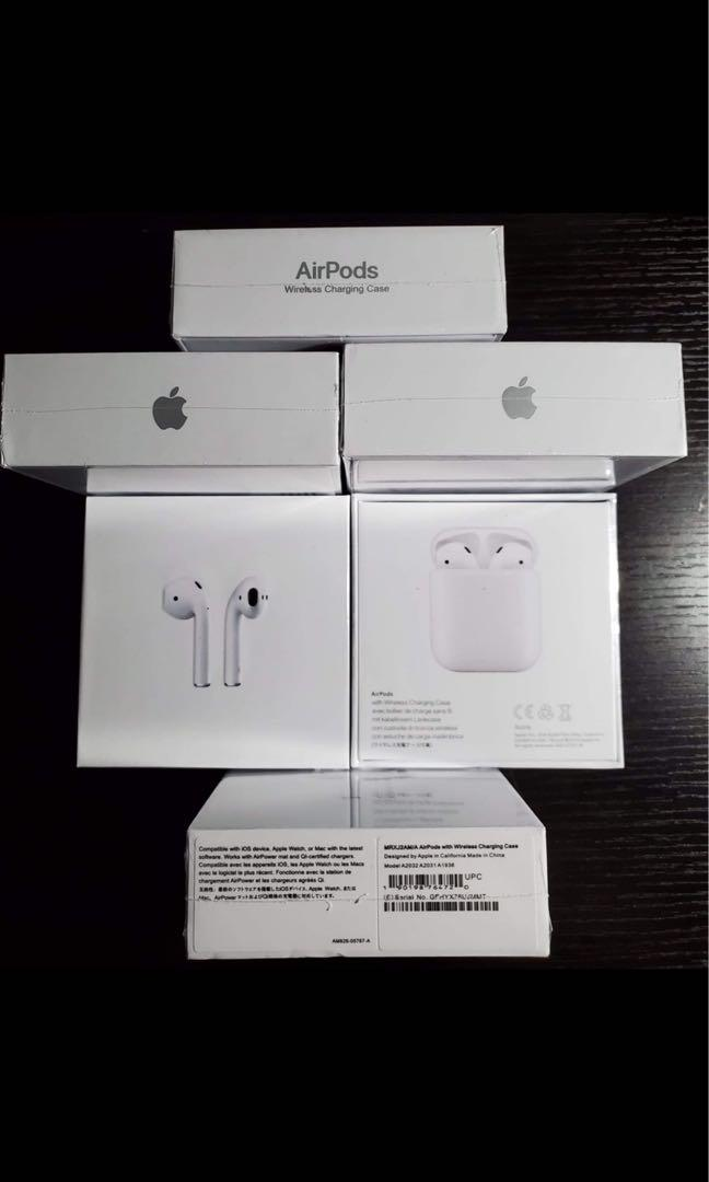 Sealed AirPods 2 with Wireless Charging Case (read description)