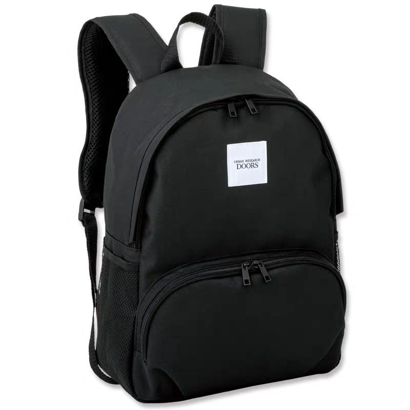 Urban Research Doors 日單雜誌附錄包 男女通用款 百搭黑色大容量雙肩背包 雙肩包 書包 運動袋 背囊