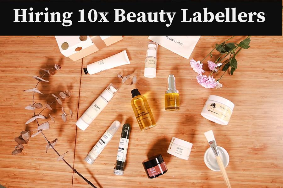 10x Beauty Labellers. EASY JOB