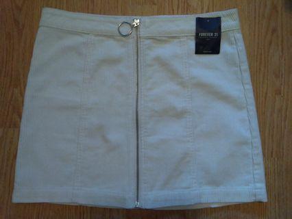 white/ivory corduroy skirt