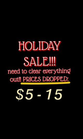 BOGO AND ALL PRICES DROPPED! HOLIDAY SALE!
