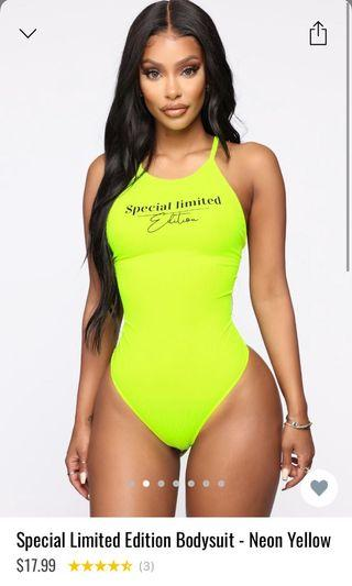 Limited edition bodysuit- neon green