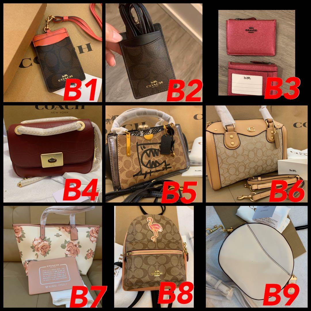 (18/12/19)Ready Stock authentic coach women bag Tory Burch backpack card holder lanyard Black Friday chirstmas gift wallet phone pouch innk