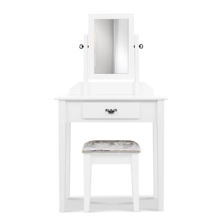 Artiss Dressing Table Stool Mirror Makeup Jewellery Organiser Cabinet Drawer