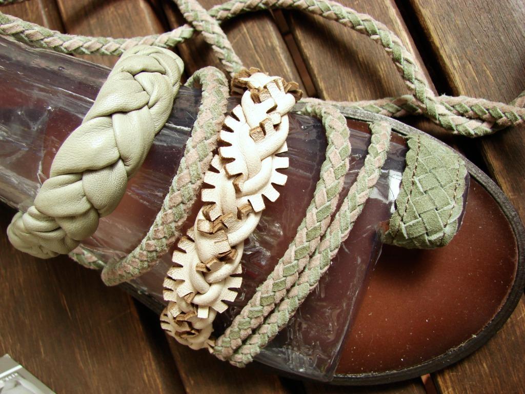 "Bacio 61 ""Leini"" leather gladiator sandal BRAND NEW AU7/US38"