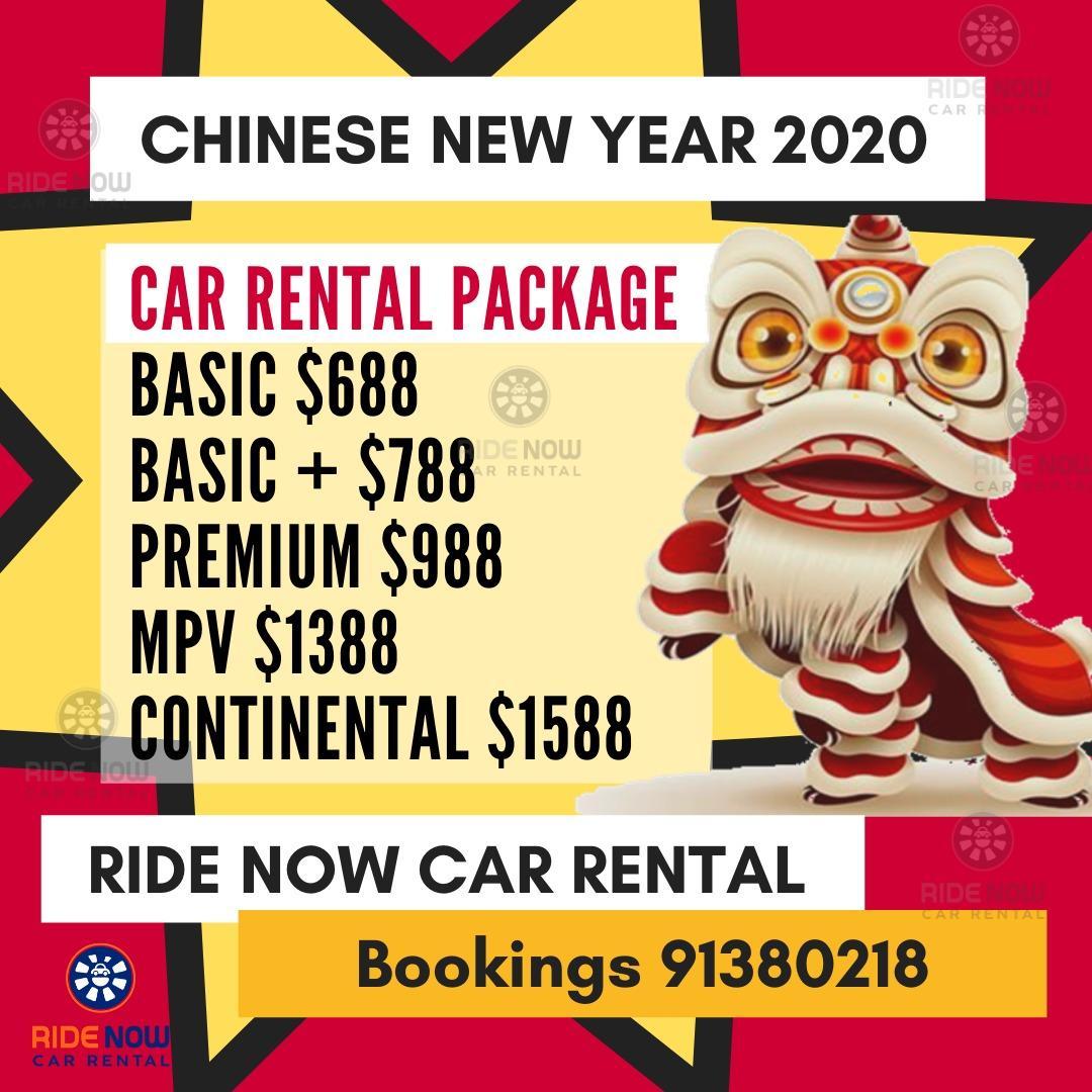 Chinese New Year 2020 23 - 30 Jan Rental Period! Malaysia Usage Allowed!